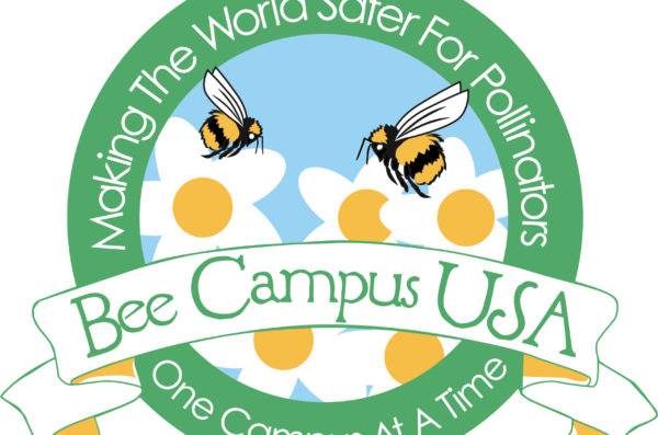 Bee Campus USA logo with flowers and bees