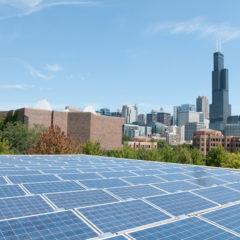 solar panels on top Douglas hall