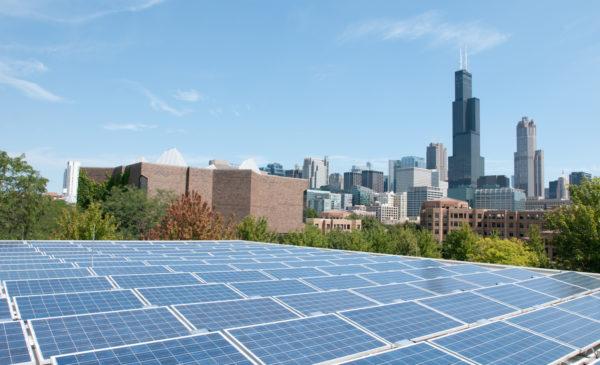 solar panels on the roof of Douglas Hall Photo: Roberta Dupuis-Devlin