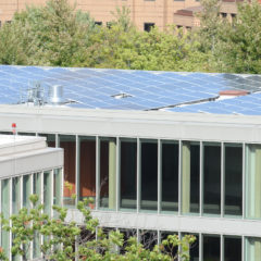 solar panels on top Douglas hall