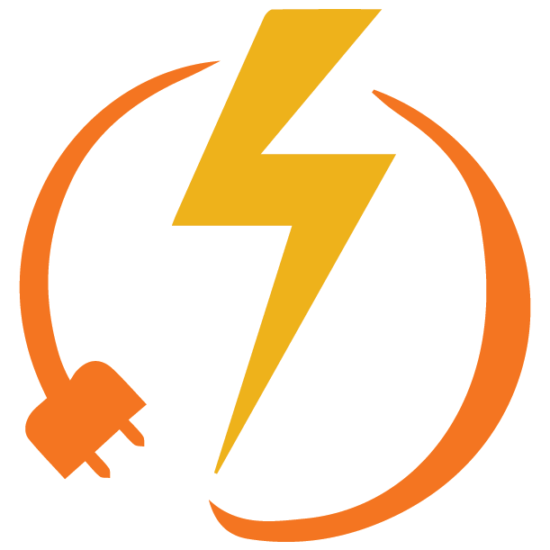 Energy Efficiency and Conservation Logo: electrical plug with lightning bolt