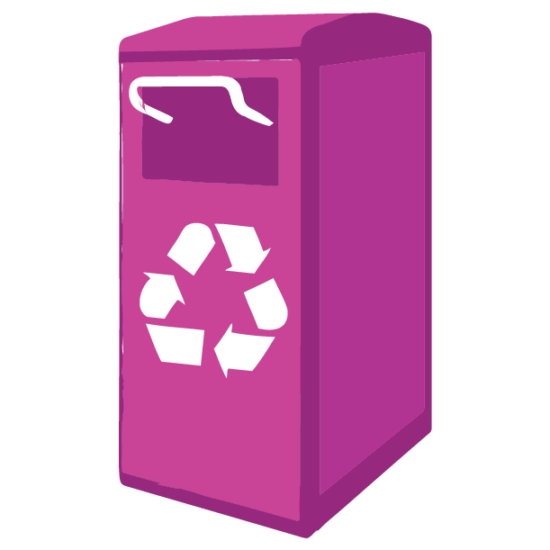 outdoor recycling bin icon