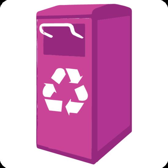 CAIP STRATEGY 5.0 LOGO: outdoor recycling bin