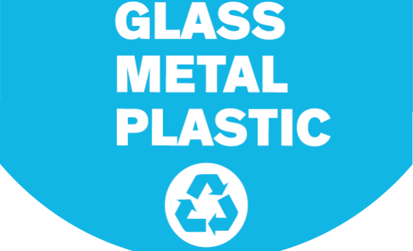 glass metal plastic recycling logo