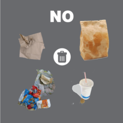 Do not recycle wet papers in the recycling bin