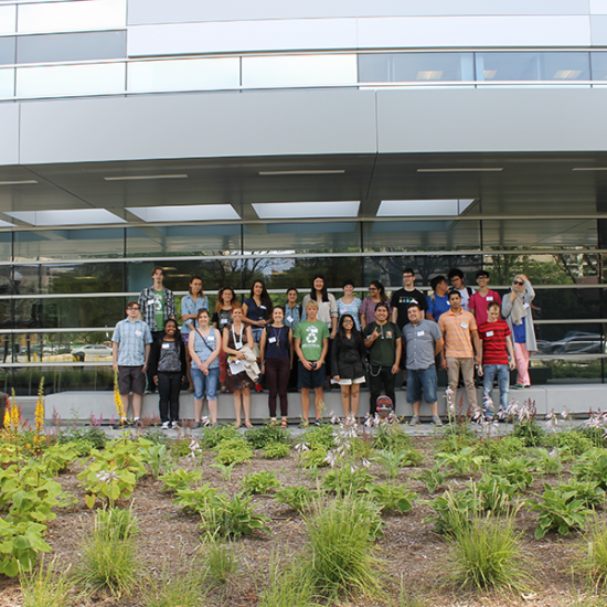 students of the summer 2015 SIP cohort at the Mile Square tour