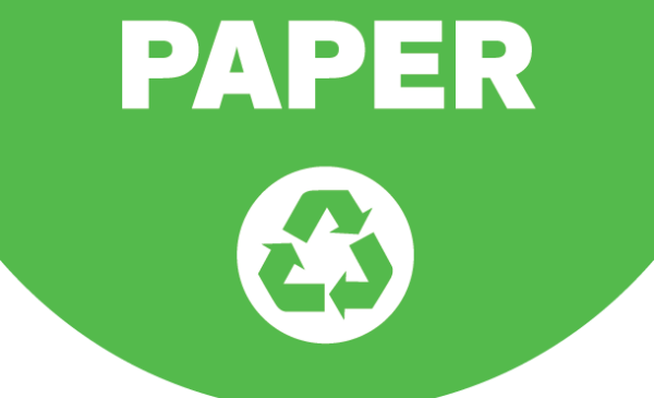 Paper Recycling sign