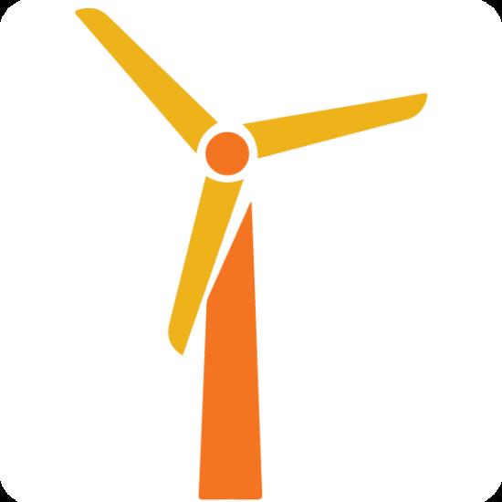 icon of a wind turbine