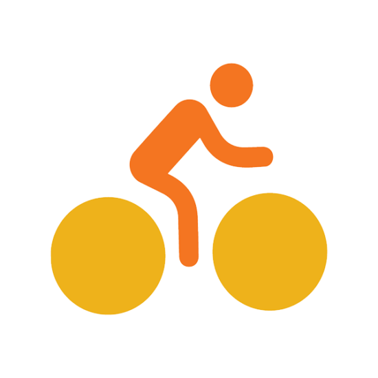 CAIP strategy 3.0 logo: person riding a bike