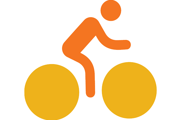 icon of person riding a bike