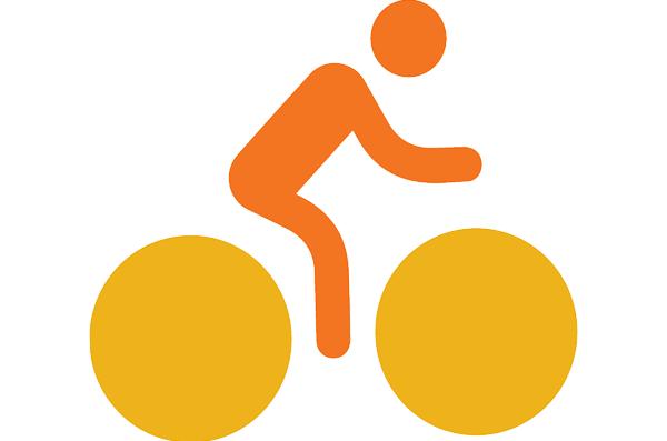 icon of person riding a bike