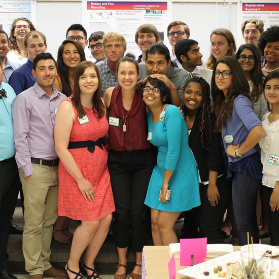Students of the Sustainability Internship Program at the Spring Poster Presentation