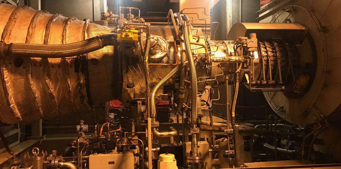 West Campus CHP Plant solar gas turbine