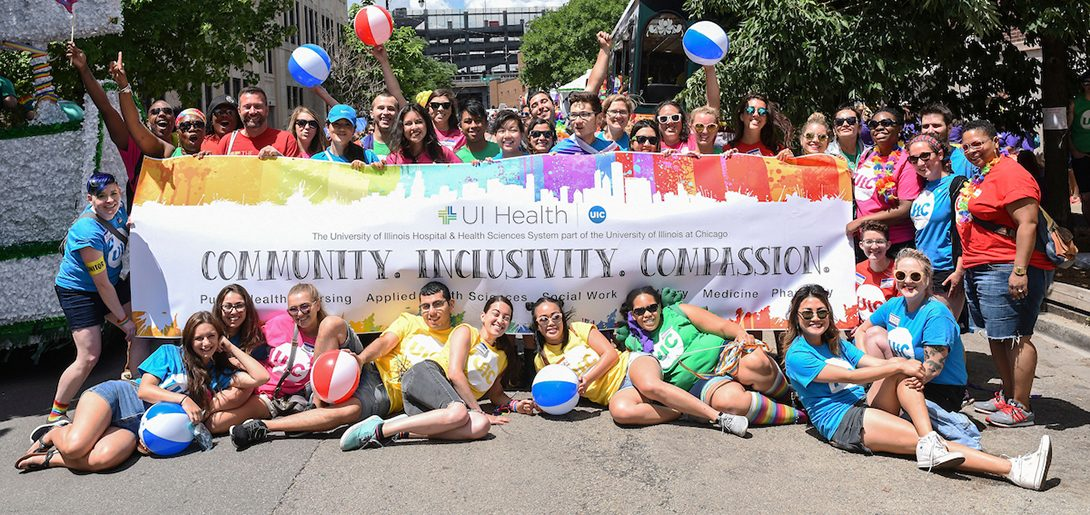 UI Health community celebrate gay pride together