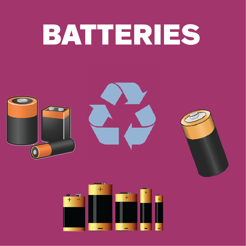 Recycle Batteries sign