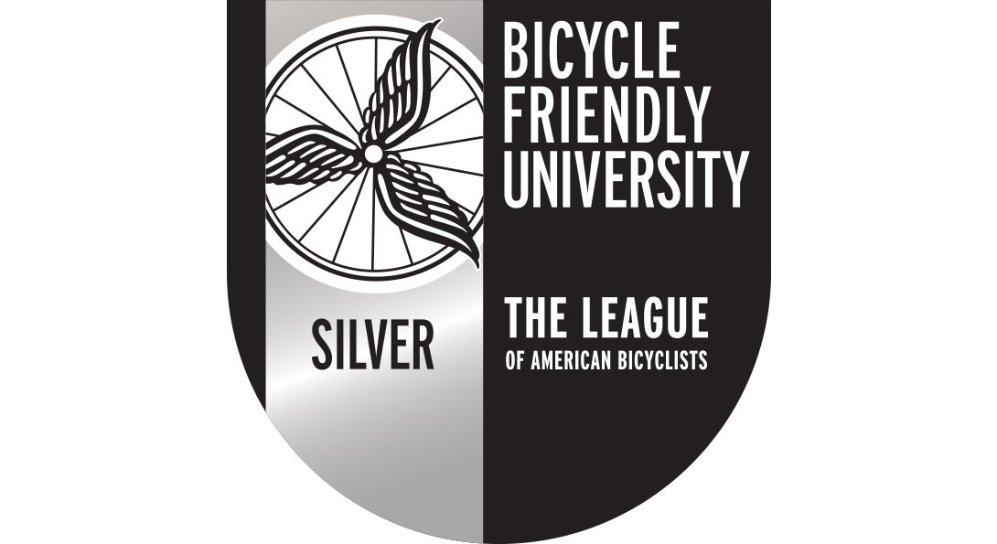 Bicycle Friendly University Official Silver-level seal from The League of American Bicyclists